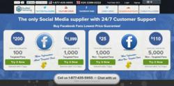 Buy Real Marketing Launches Webpage for Service Packages of Facebook Fans