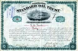 Standard Oil Trust Stock signed by John D. Rockefeller