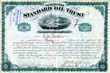 Standard Oil Trust Stock signed by John D. Rockefeller