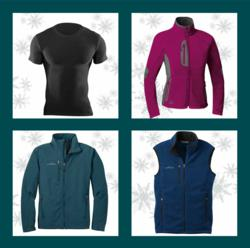 Under Armour Tactical Compression Shirt, First Ascent Ladies Point Success Jacket, Eddie Bauer Softshell Jacket, Eddie Bauer Fleece Vest