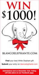Blanco Elephante $1,000 White Elephant Gift Contest