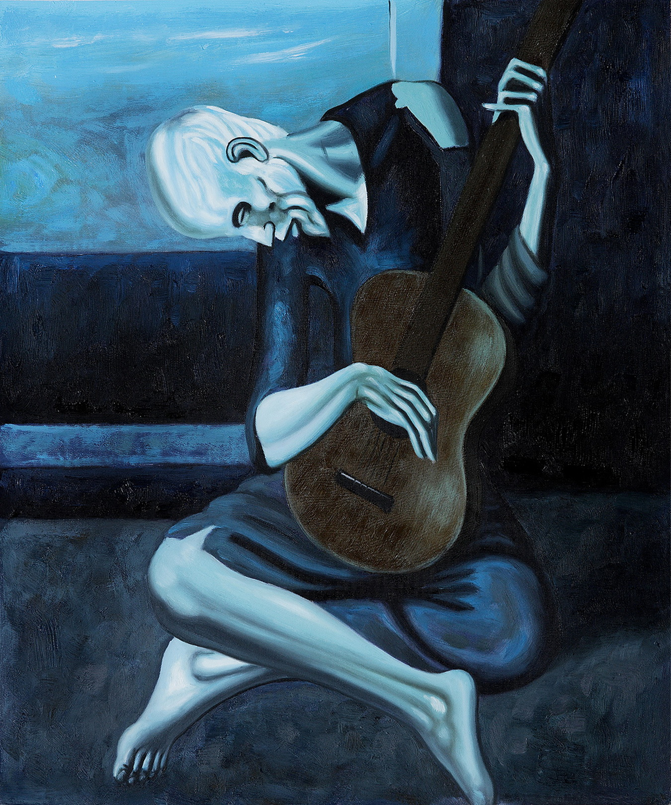 picassos old guitarist The old guitarist (1903),  he was among the first champions of pablo picasso,  hemingway tells gertrude stein that he would like to have some picassos,.