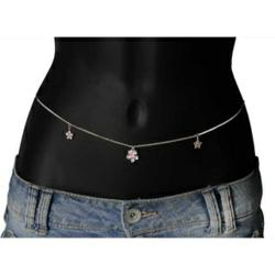 image of chain belly button ring
