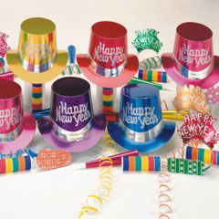 New Year's Metallic Party Kit from Windy City Novelties