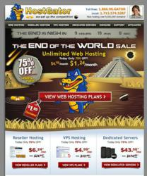 75% Hostgator End of World Sale