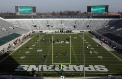 Photo of Lighthouse and Panasonic video displays at Spartan Stadium