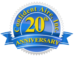 20-Year Anniversary of Confident Aire, Inc. Heating and Cooling Company
