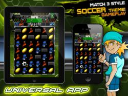 Drag, match and score in Soccer Puzzle League!