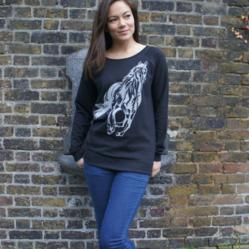 Emma Nissim - Handprinted Adele Black Ladies Jumper