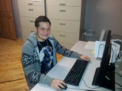 Telcom & Data Intern, Jesus Cordova, Hard at Work