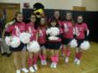 AOA Cheerleaders wear the Buckets For Breast Cancer t-shirts to raise awareness