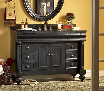 distressed black bathroom vanity from kaco ronde black bathroom vanity