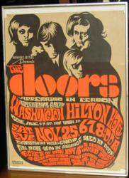 1967 Jim Morrison And The Doors Washington Hilton Hotel Concert Poster
