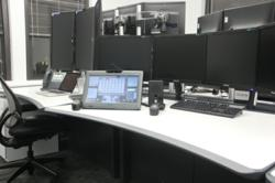 trading desk with technology