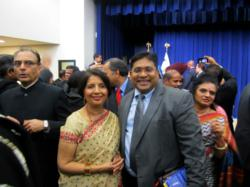 at the White house Diwali Celebration