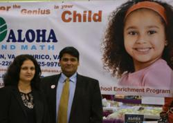 Franchisees Rupesh and Varsha Bharad signed to open the 150th ALOHA USA's location December 2012