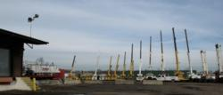 Thackray Cranes are positioned in preparation for December 21 2012 memorial tribute