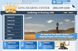 hearing aids in Lubbock - King Hearing Center website