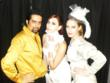 Omer Pasha (left) with models at Gala event.