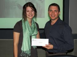 Ryann Worley presented with TWM Check