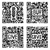 Distinctive BangQR.com QR codes