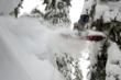 A snowboarder enjoys the deep snow at Stevens Pass Mountain Resort on December 18.