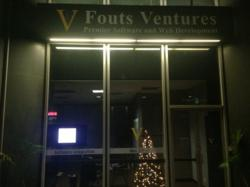 Fouts Ventures Retail Storefront in Los Angeles, California - Nighttime Display 2012