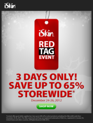 iSkin Red Tag Online Sale is back!