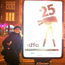Wendy Dent in Amsterdam for the world premiere of her film 'December 25' at IDFA