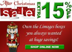 After-Christmas Extra 15% Sale on All Limoges Boxes at LimogesBoxCollector.com