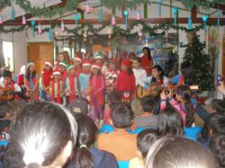 This year, the children of Suba celebrate the Christmas spirit by participating in holiday festivities