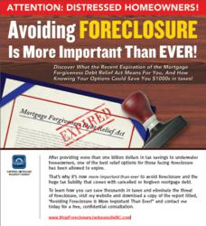 Avoid Foreclosure is more important now