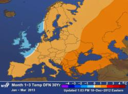 WSI European Weather Outlook Jan.- Mar. 2013