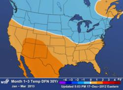WSI US Weather Outlook Jan. - Mar. 2013