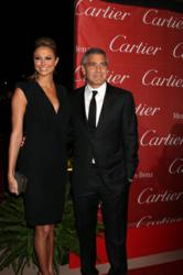 photo of George Clooney and Stacy Keibler at the 2012 Palm Springs International Film Festival