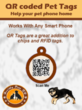 Get a QR coded pet tag today from PHI eManangement Solutions Inc.