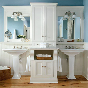 introduces a tip sheet out of the box ideas for the master bathroom