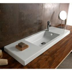 Ceramica Tecla Wall Mount Bathroom Sink Tecla 3502011