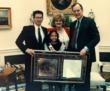 President Bush Oval Office meeting with RPI Founder Helen Harris Son Richard and Poster Child Michelle Burke
