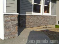 Stacked stone is a gorgeous accent for exterior siding