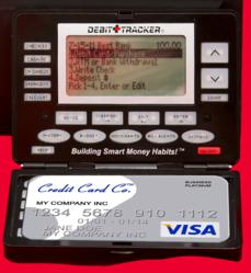 Debit Tracker Unit also stores your credit/debit card