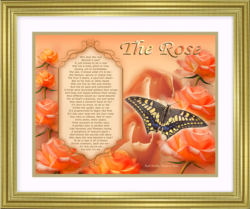 Spiritual Inspirational Poem and Framed Artwork from Visions in Verse