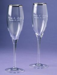 Hawaiian Island Toasting Flutes for Weddings