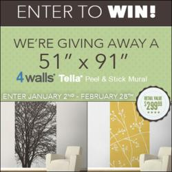 Enter for a chance to win a new and exclusive Tella® Peel & Stick Wall Mural.