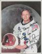 After his death this past July, demand increased for autographs of Apollo 11 astronaut Neil Armstrong.  This is an example of a genuine Armstrong autograph in the opinion of PSA/DNA.  (Photo credit: PSA/DNA Authentication Services.)
