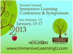 2nd Annual Immersive Learning University Conference and Symposium
