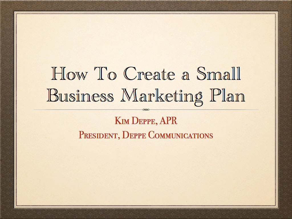 how to create a small business plan