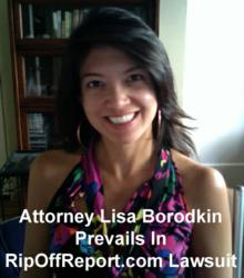 Attorney Lisa Borodkin Prevails Against Ed Magedson's RipOffReport.com
