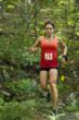 Lindsay Beckner runs the 2011 Rock/Creek StumpJump 50k race. Photo by Jeff Bartlett.