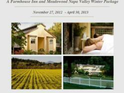 Farmhouse Inn and Meadowood Winter in the Wine Country
